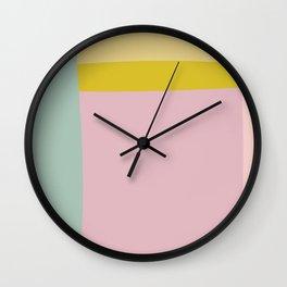 Organic Spring Pastels Wall Clock