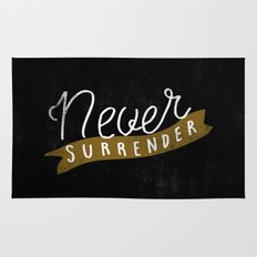Never Surrender Rug