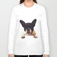 frenchie Long Sleeve T-shirts featuring Frenchie by lori