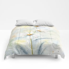 White Daisies Comforters