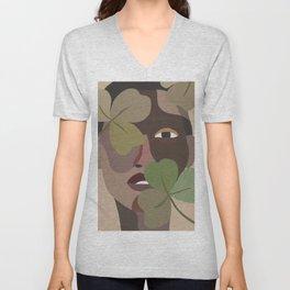 ELIJAH // Woman with Foliage Unisex V-Neck