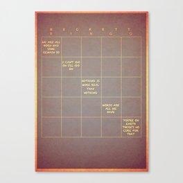 Beckett Bingo Canvas Print