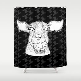 Goathead Shower Curtain