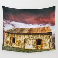broken Wall Tapestries featuring Broken by SpaceFrogDesigns