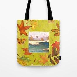 Fall Citron Leaves Tote Bag