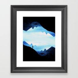 Blue Wasteland Isolation Framed Art Print
