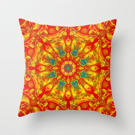 Hot And Bright Thoughts Mandala Throw Pillow