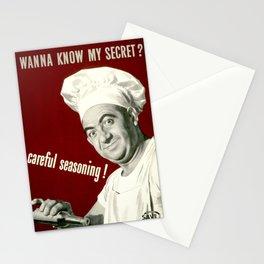 WANNA KNOW MY SECRET? CAREFUL SEASONING Stationery Cards