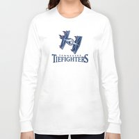 nfl Long Sleeve T-shirts featuring Tennessee Tie Fighters - NFL by Steven Klock
