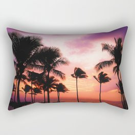Purple Sunset in Hawaii (Color) Rectangular Pillow