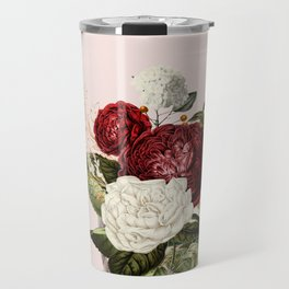 Collage of lady with flowers Travel Mug