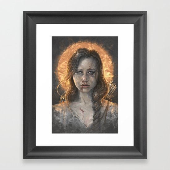 Katniss Framed Art Print