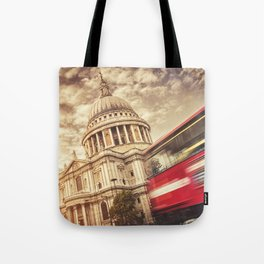 st. paul with bus Tote Bag