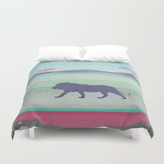 Lions are big kitties  Duvet Cover