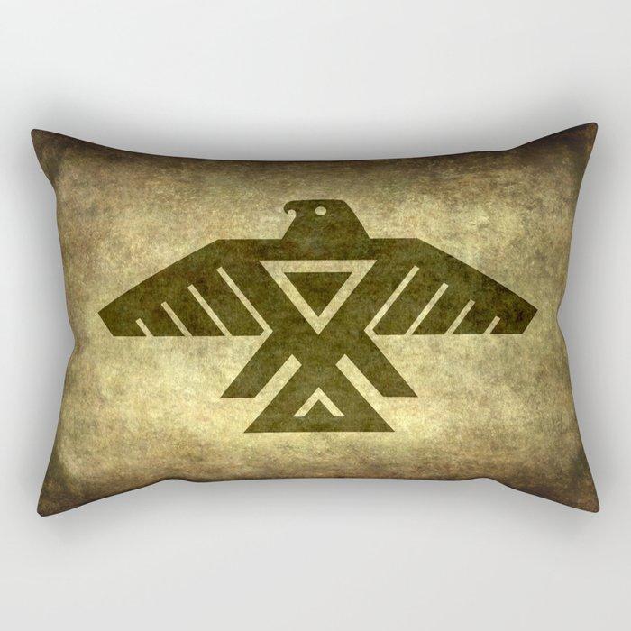 Symbol of the Anishinaabe, Ojibwe (Chippewa) on  parchment Rectangular Pillow