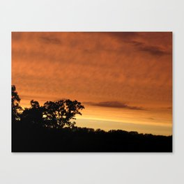 sunset // iowa Canvas Print