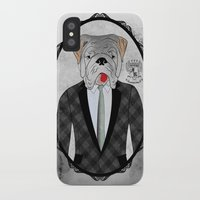 english bulldog iPhone & iPod Cases featuring Mr. Dandy - English Bulldog by Rozenblyum Couture