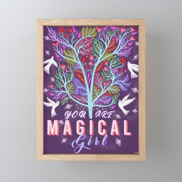 You Are Magic Girl Framed Mini Art Print