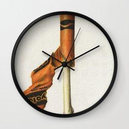 To The Core: Orange Wall Clock