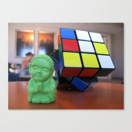 Little Bu Cube Canvas Print