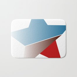 Ombre red white and blue star Bath Mat