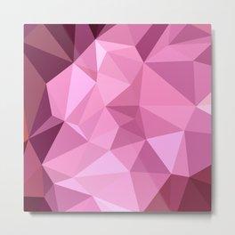 Fandango Purple Abstract Low Polygon Background Metal Print