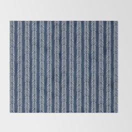 Mud cloth - Navy Arrowheads Throw Blanket