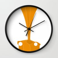 f1 Wall Clocks featuring Silhouette Racers - McLaren F1 by Salmanorguk