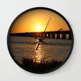 7 Mile Bridge Wall Clock