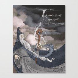 I wish I were a Wizard Canvas Print