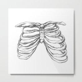 skeleton ribs Metal Print
