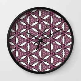 White Abstract Geometric Flower Pattern Wall Clock