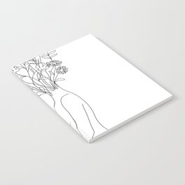 Minimal Line Bloom Notebook