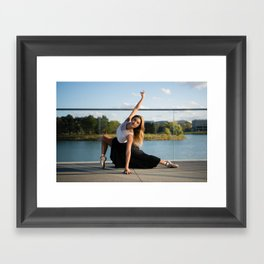 Katie at the Hub Framed Art Print