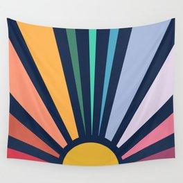 Rainbow Sunshine Wall Tapestry