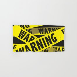 warning tape - danger tape - caution tape Hand & Bath Towel