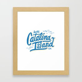 Catalina Island White  Framed Art Print