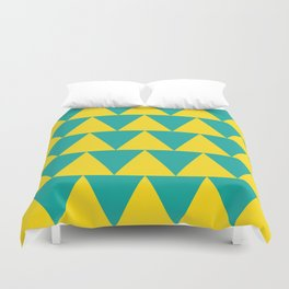 Double Triangles I Duvet Cover