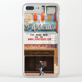 Orpheum Theater Los Angeles Clear iPhone Case