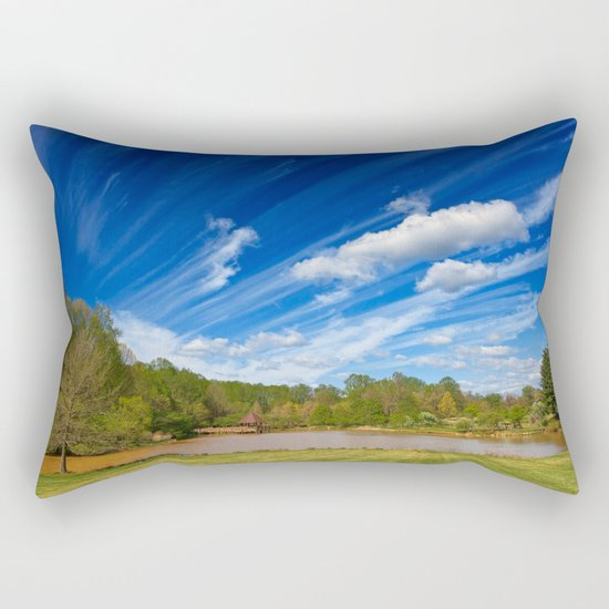 Meadowlark Cloud Gardens Rectangular Pillow