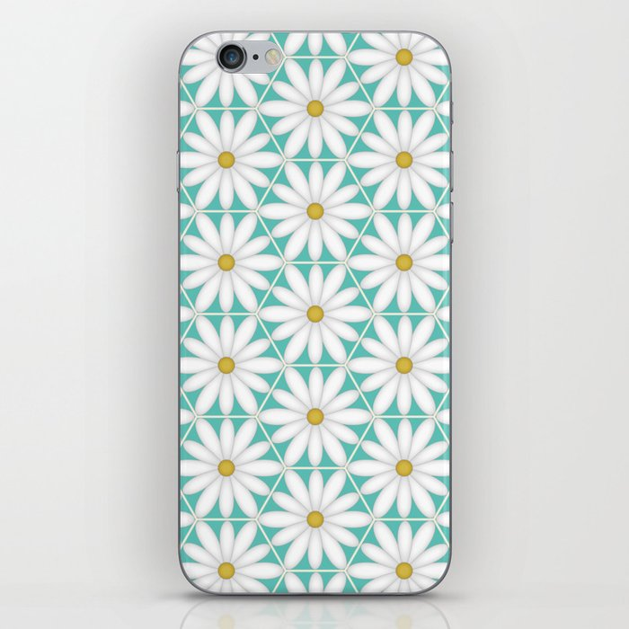 Daisy Hex - Turquoise iPhone Skin