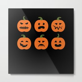 Pumpkin Halloween Costume Monster Ghost Metal Print