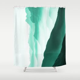 Creamy Mountains Shower Curtain