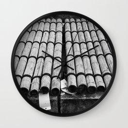 Bamboo Shelter Wall Clock