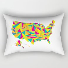 Abstract America Bright Earth Rectangular Pillow