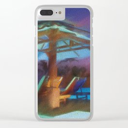 Tropical Nightscape Clear iPhone Case