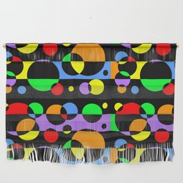 Rainbow Geometric Multicolored Modern Circle Pattern Wall Hanging