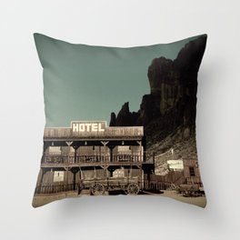 Old West Hotel fine art photography Throw Pillow