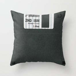 Retro 80's objects - Diskette Throw Pillow