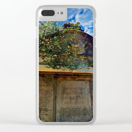 Lafayette Cemetery - Rose Covered Tomb Clear iPhone Case